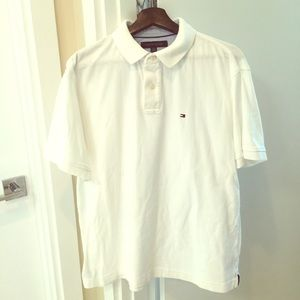 Tommy Hilfiger Mens Large White Polo